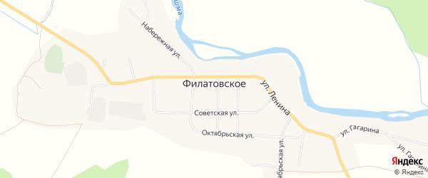 Карта Филатовского села в Свердловской области с улицами и номерами домов