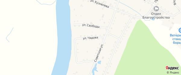 Улица Чадова на карте поселка Гари Свердловской области с номерами домов