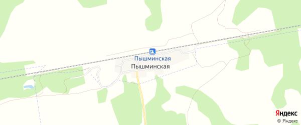 Карта поселка Пышминской в Свердловской области с улицами и номерами домов