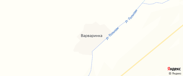 Карта деревни Варваринки в Челябинской области с улицами и номерами домов