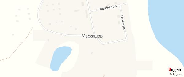 Центральная улица на карте поселка Мескашора с номерами домов
