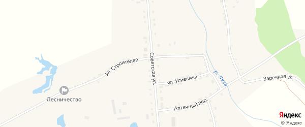 Советская улица на карте села Горки Свердловской области с номерами домов