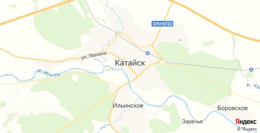 Карта Катайска с улицами и домами подробная. Показать со спутника номера домов онлайн