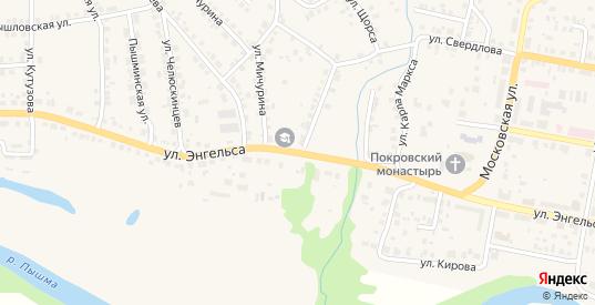 Улица Энгельса в Камышлове с номерами домов на карте. Спутник и схема онлайн