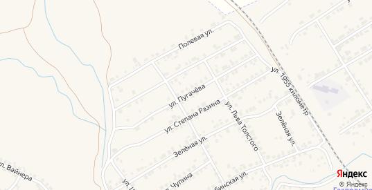 Улица Пугачева в Камышлове с номерами домов на карте. Спутник и схема онлайн