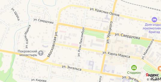 Улица Розы Люксембург в Камышлове с номерами домов на карте. Спутник и схема онлайн