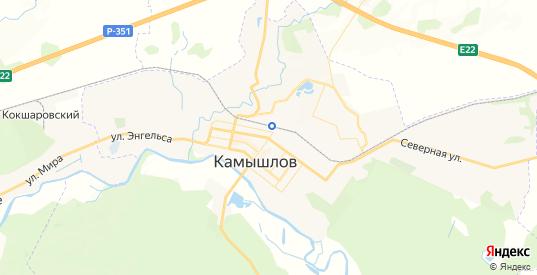 Карта Камышлова с улицами и домами подробная. Показать со спутника номера домов онлайн