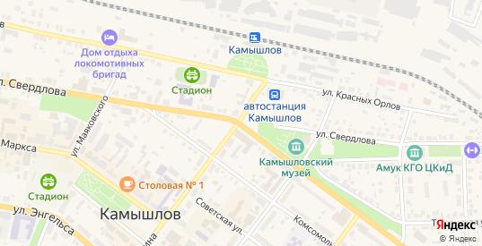Территория Снт Фарфорист в Камышлове с номерами домов на карте. Спутник и схема онлайн