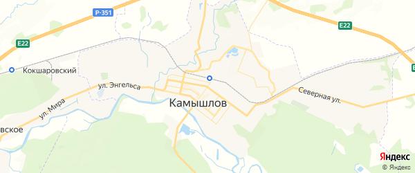 Карта Камышлова с районами, улицами и номерами домов