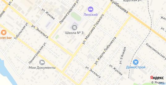 Улица Жукова в Камышлове с номерами домов на карте. Спутник и схема онлайн