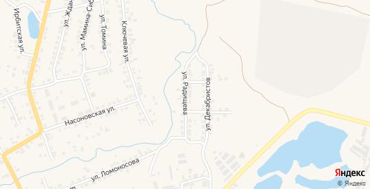 Улица Радищева в Камышлове с номерами домов на карте. Спутник и схема онлайн
