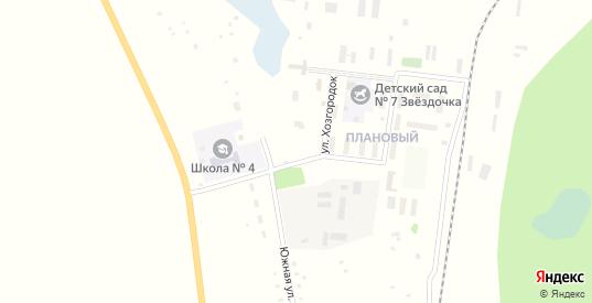 Клубная улица в поселке Плановый в Щучьем с номерами домов на карте. Спутник и схема онлайн