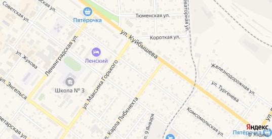Комсомольская улица в Камышлове с номерами домов на карте. Спутник и схема онлайн