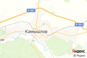 Карта г. Камышлов Свердловская область