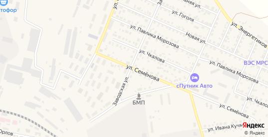 Улица Семенова в Камышлове с номерами домов на карте. Спутник и схема онлайн