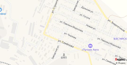 Заводская улица в Камышлове с номерами домов на карте. Спутник и схема онлайн