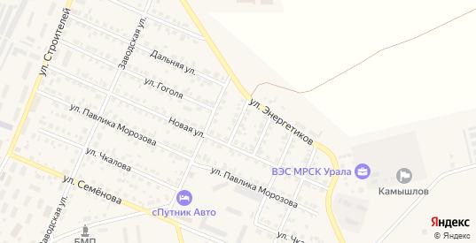 Улица Вагонников в Камышлове с номерами домов на карте. Спутник и схема онлайн