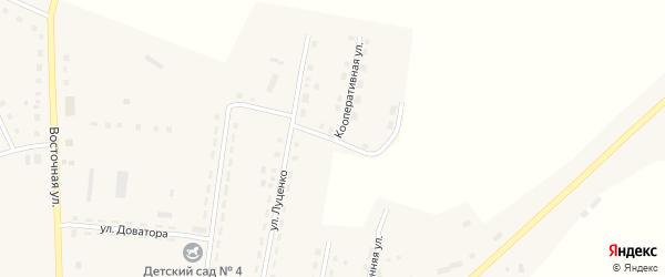 Кооперативная улица на карте Октябрьского села Челябинской области с номерами домов