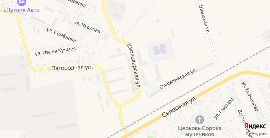 Карловарская улица в Камышлове с номерами домов на карте. Спутник и схема онлайн