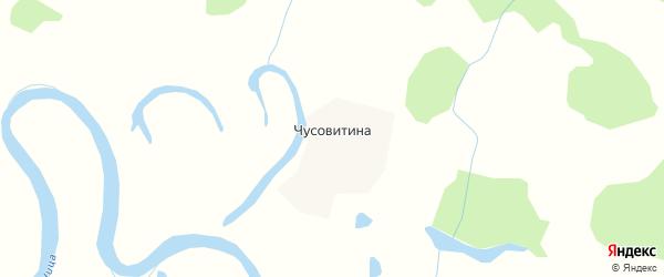 Карта деревни Чусовитина в Свердловской области с улицами и номерами домов