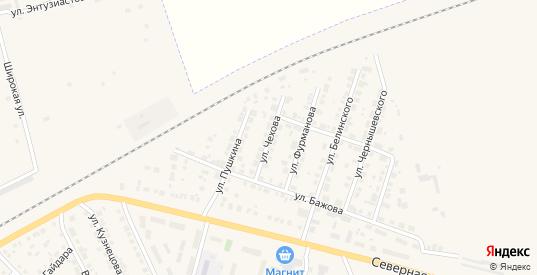 Улица Чехова в Камышлове с номерами домов на карте. Спутник и схема онлайн