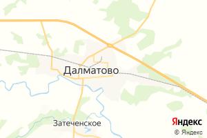 Карта г. Далматово Курганская область