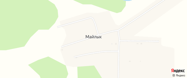 Складская улица на карте деревни Майлыка Курганской области с номерами домов