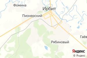 Карта г. Ирбит Свердловская область