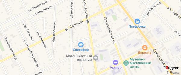 Улица Калинина на карте Ирбита с номерами домов