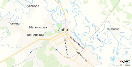 Карта Ирбита с улицами и домами подробная. Показать со спутника номера домов онлайн