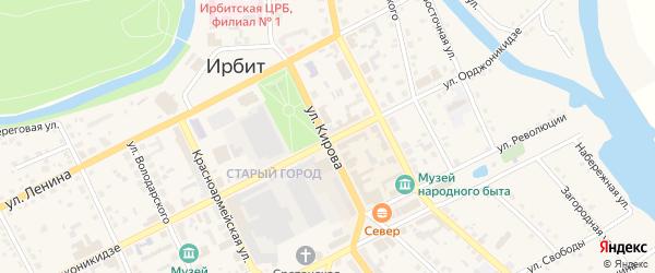Кленовая улица на карте Ирбита с номерами домов