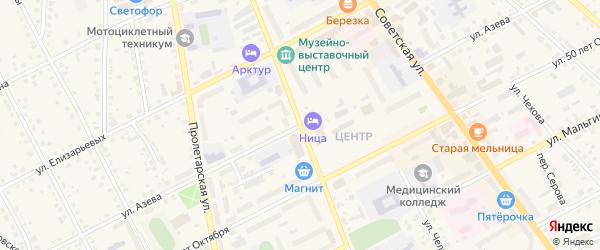 Улица Азева на карте Ирбита с номерами домов