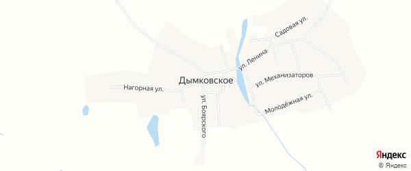 Карта Дымковского села в Свердловской области с улицами и номерами домов