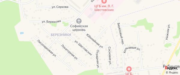 Юбилейная улица на карте Ирбита с номерами домов