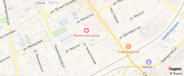 Улица Фрунзе на карте Ирбита с номерами домов
