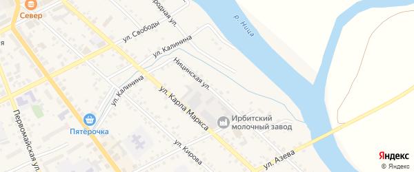 Ницинская улица на карте Ирбита с номерами домов