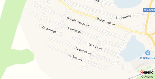 Светлая улица в Шумихе с номерами домов на карте. Спутник и схема онлайн