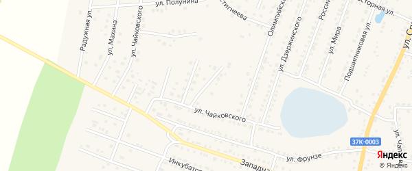 Тенистая улица на карте Шумихи с номерами домов