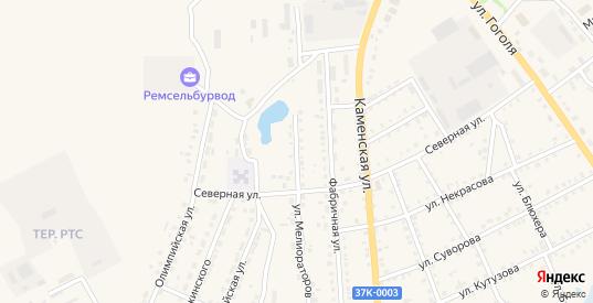 Улица Мелиораторов в Шумихе с номерами домов на карте. Спутник и схема онлайн