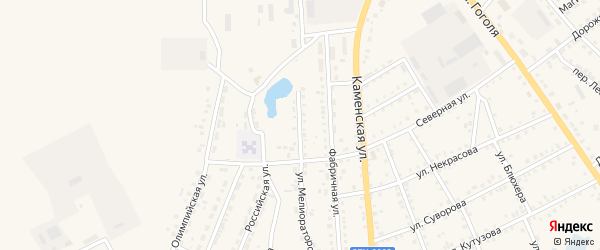Улица Мелиораторов на карте Шумихи с номерами домов