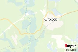 Карта г. Югорск Ханты-Мансийский автономный округ-Югра