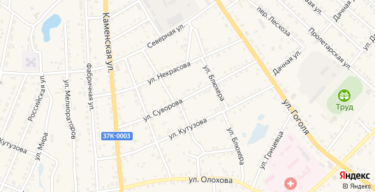 Улица Суворова в Шумихе с номерами домов на карте. Спутник и схема онлайн