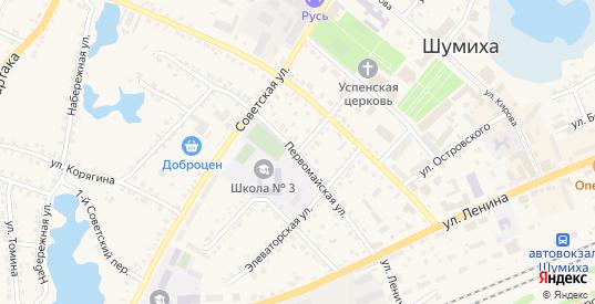 Базарная улица в Шумихе с номерами домов на карте. Спутник и схема онлайн