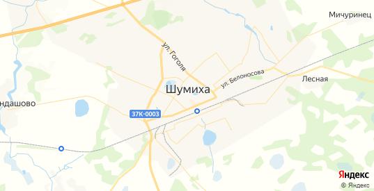 Карта Шумихи с улицами и домами подробная. Показать со спутника номера домов онлайн
