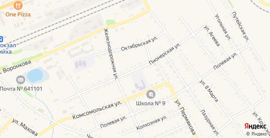Пионерская улица в Шумихе с номерами домов на карте. Спутник и схема онлайн