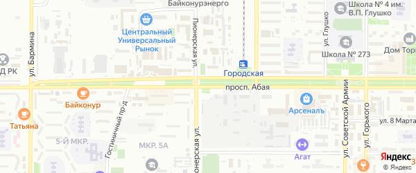 Абая улица на карте поселка Тюры-Тама с номерами домов