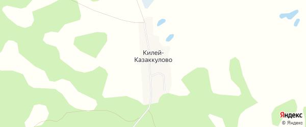 Карта деревни Казакулово в Курганской области с улицами и номерами домов