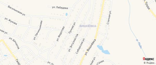Улица Энтузиастов на карте Шумихи с номерами домов