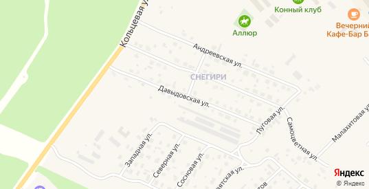 Давыдовская улица в Югорске с номерами домов на карте. Спутник и схема онлайн