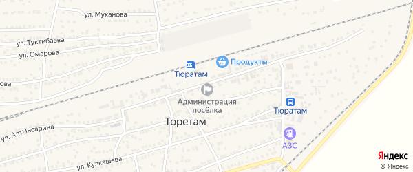 Железнодорожная улица на карте поселка Тюры-Тама с номерами домов